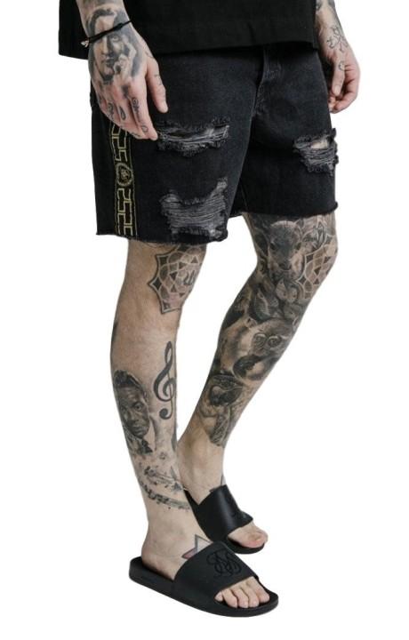 Jeans Corto SikSilk Cartel Negro