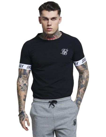 T-shirt for gym SikSilk S / O Bound Ringer - White