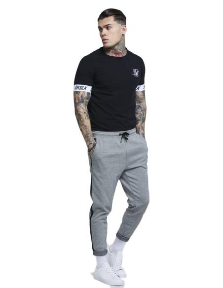 Camiseta para gimnasio SikSilk S / S Bound Ringer - Blanco
