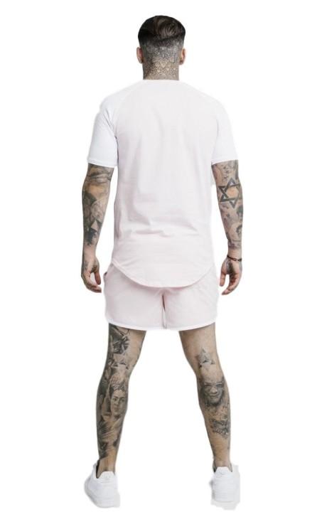 Sweatshirt SikSilk Athlete Half Zip black-and-White