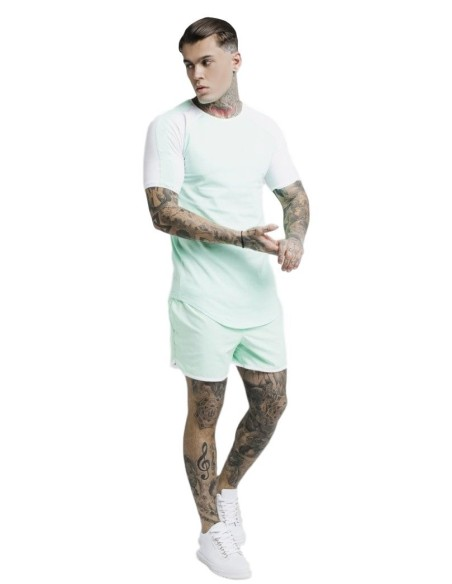 Shirt By SikSilk Poster Gym - White