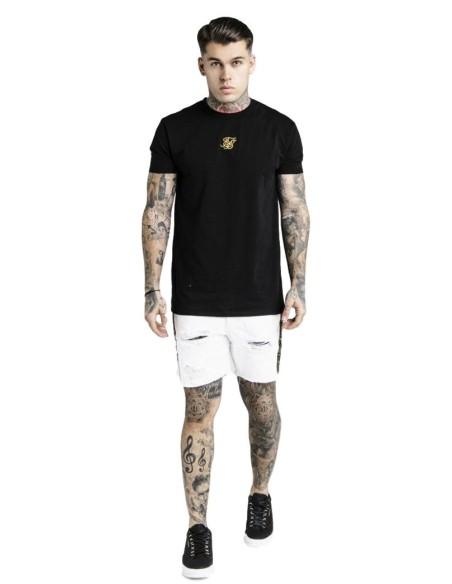 Camiseta SikSilk Cartel Gym - Negro