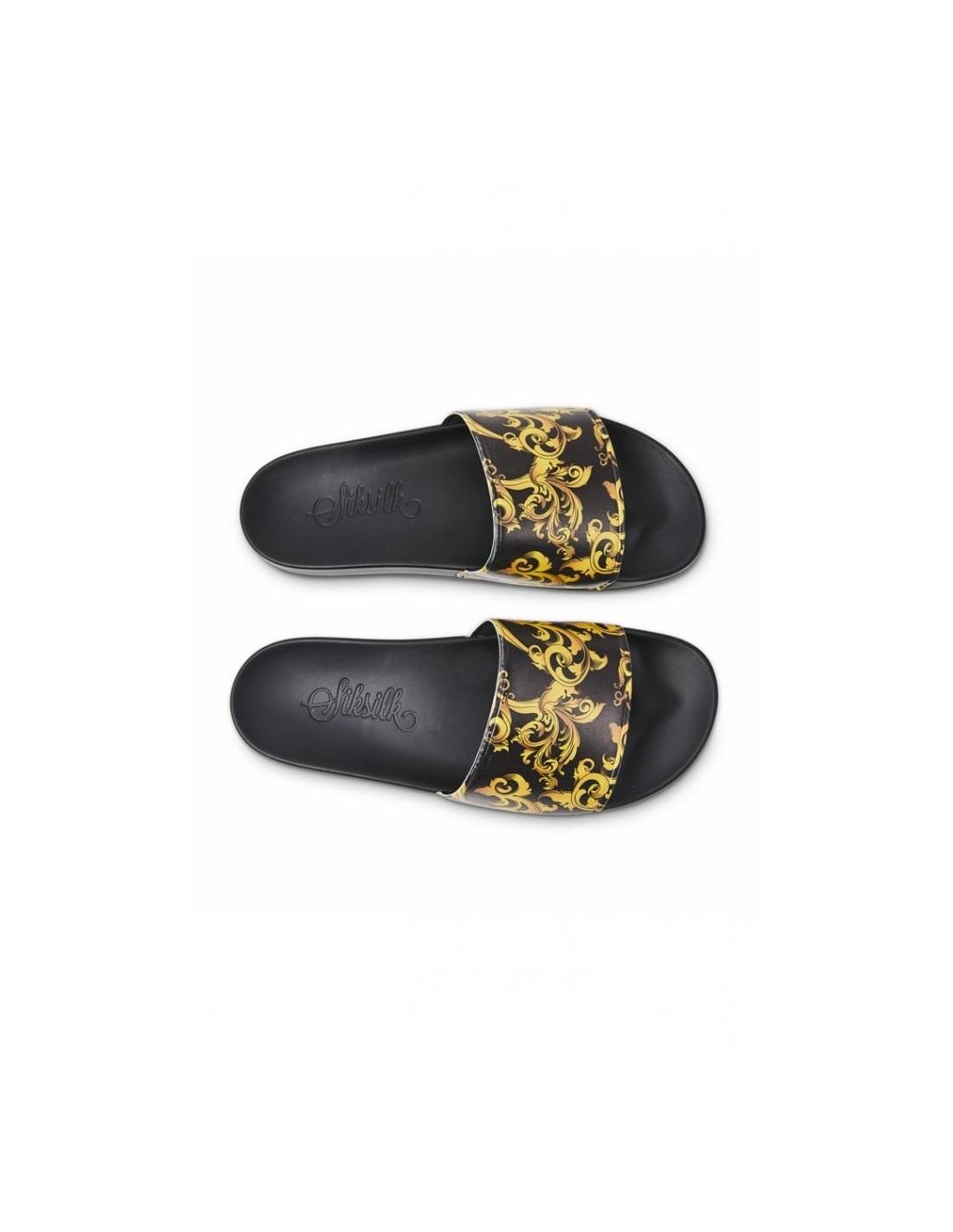 Camisa SikSilk Cartel - Negro y Oro