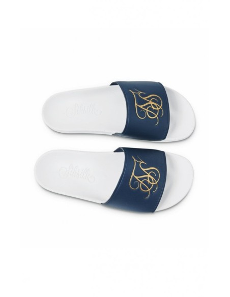Flip flops SikSilk Rome Navy Blue and White