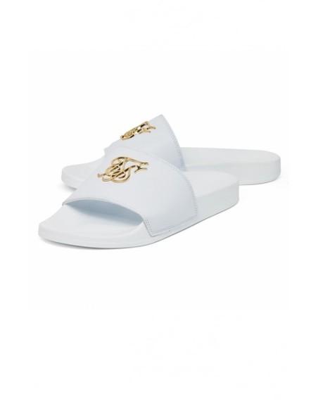SikSilk Taped Contrast Cuff Tee - Blanco