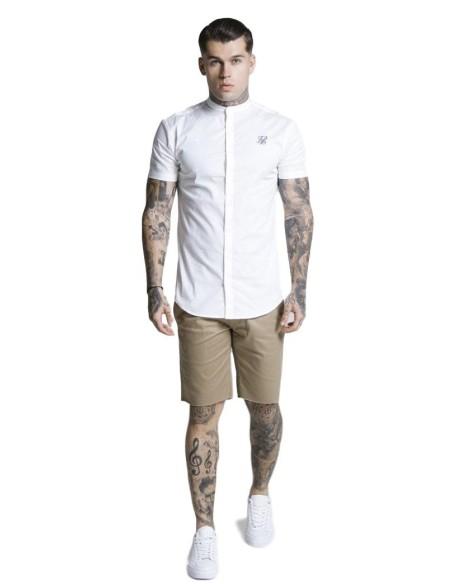 Pantalon Chino corto SikSilk Raw Hem Beige