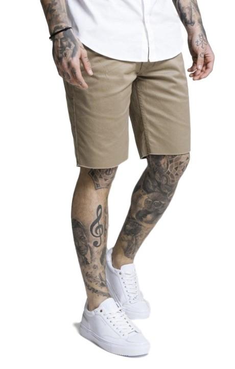 Pantalon Chino short SikSilk Raw Hem Beige