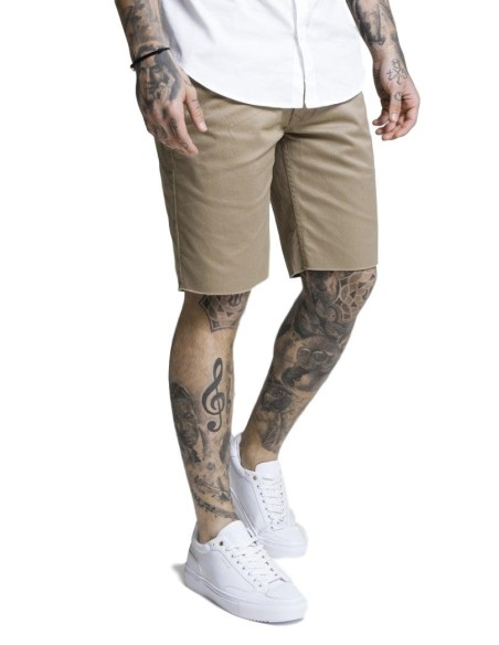 Pantalon Chino court SikSilk Raw Ourlet Beige