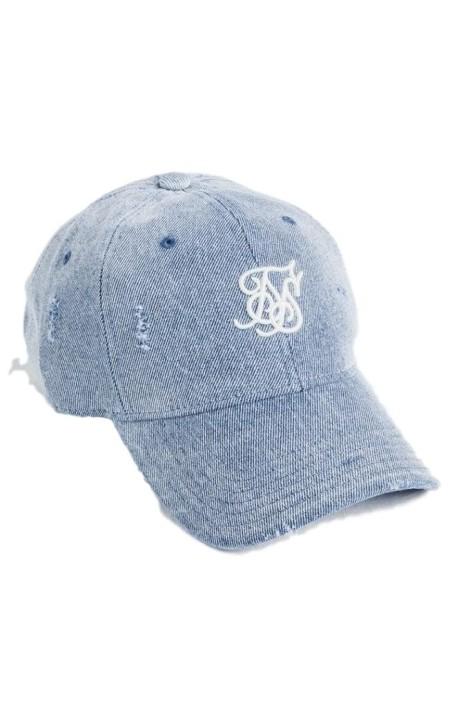 Cap SikSilk Jeans Bent Peak Denim