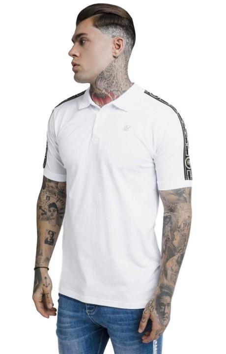 T-shirt Gianni Kavanagh noir / blanc avec des bandes d'or GK.