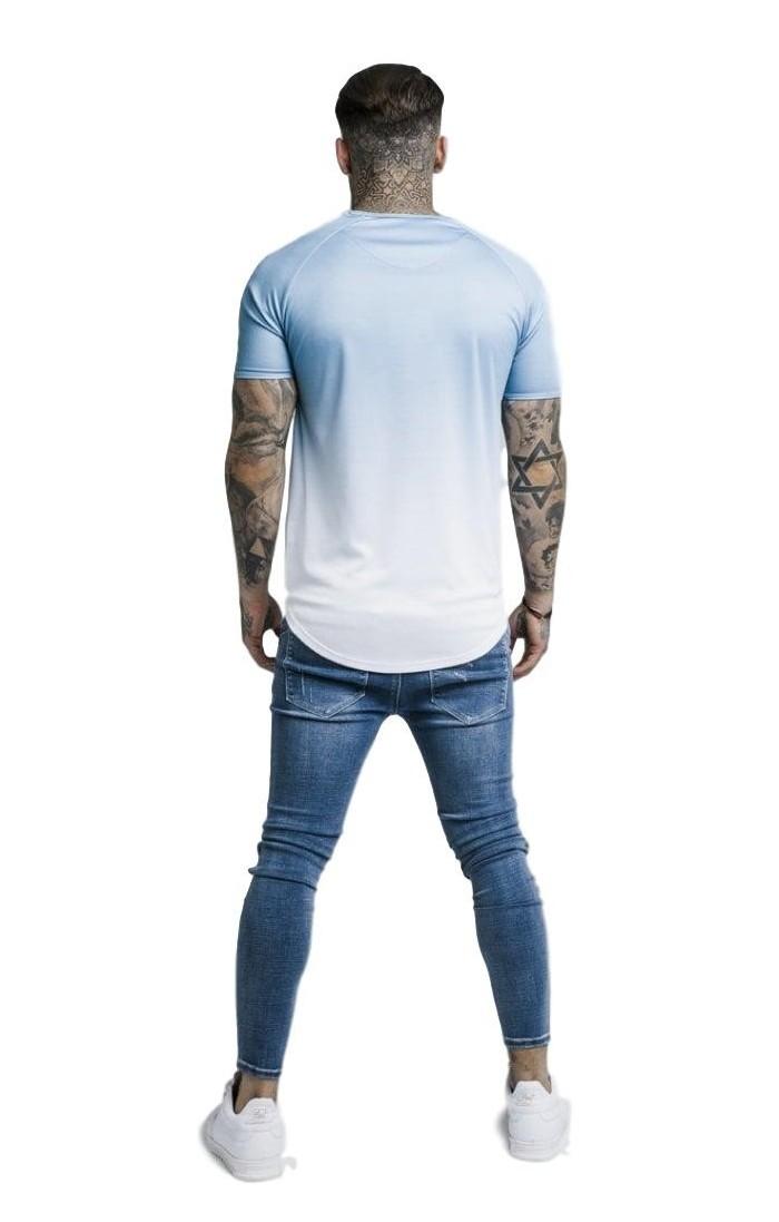 Sweat-shirt Antony Morato-Rouge avec fermeture à Glissière sur le Contraste entre le blanc