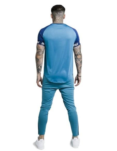 Camiseta SikSilk Raglan Tech Azul
