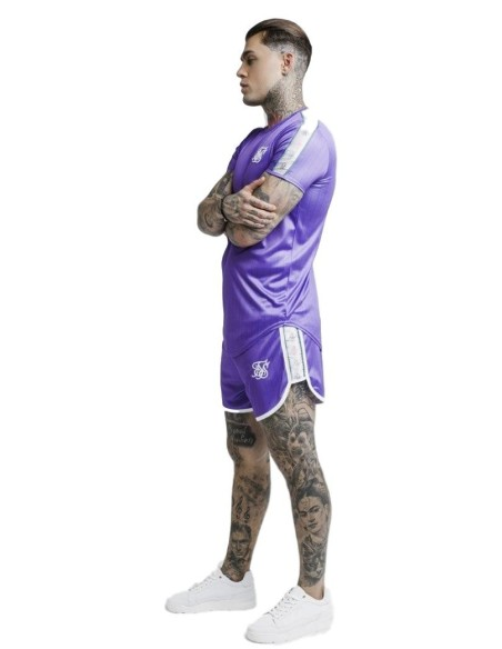 Camiseta SikSilk Tape Trials Gym Morado