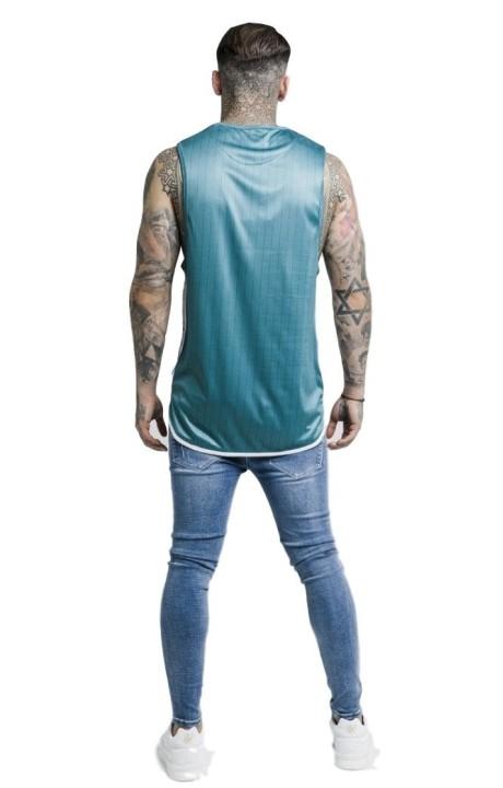 Jeans Abrasión Azul Gianni...