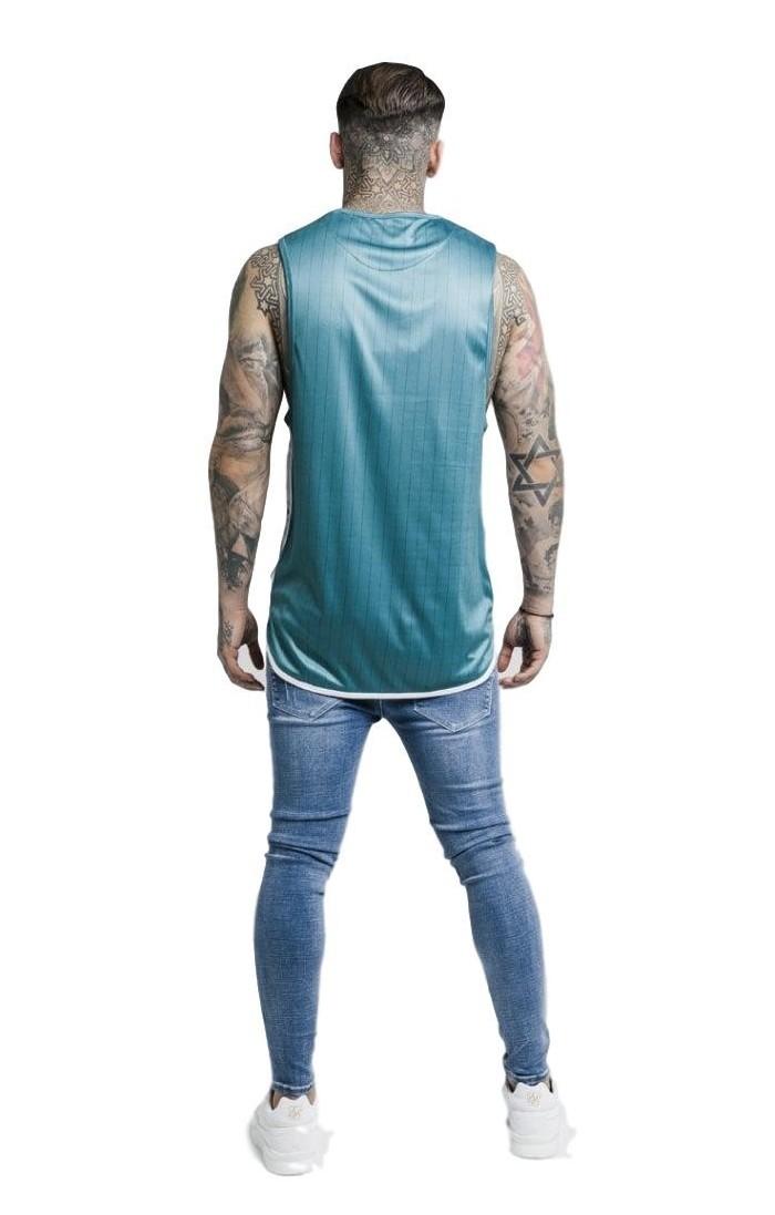 Pantalon Gianni Kavanagh Bleu Brisé Laser