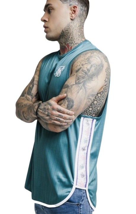 Camiseta Tirantes SikSilk Tape Trial Verde