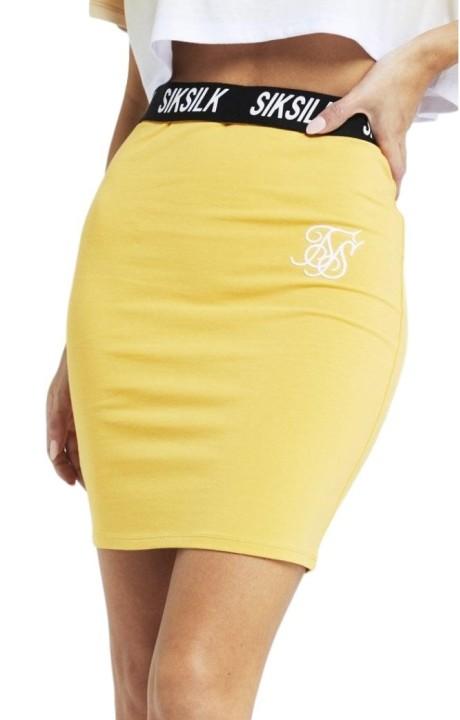 Skirt SikSilk Tube Elastic Waist Mustard
