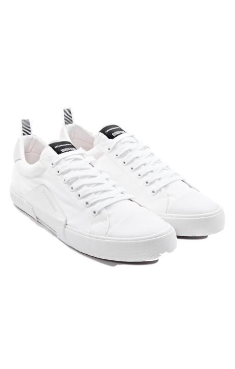 Chaussures de course Antony Morato en coton et daim blanc