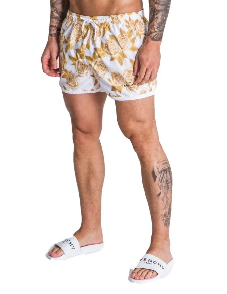 Pantalon de SikSilk polyester recadrée couleur Moutarde