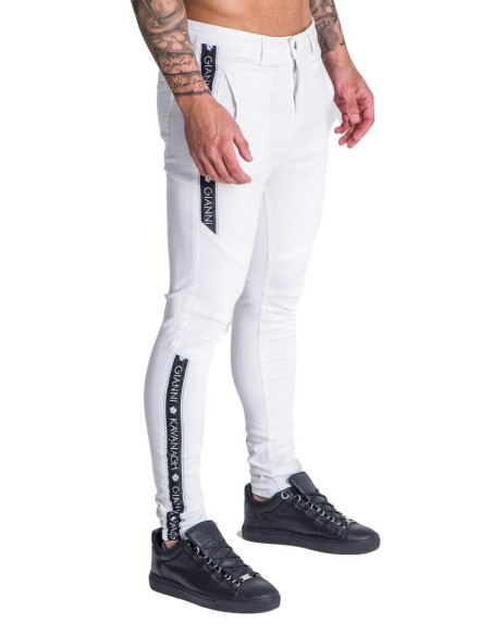Jacket SikSilk Zip Racer Tape Black, White and Gold