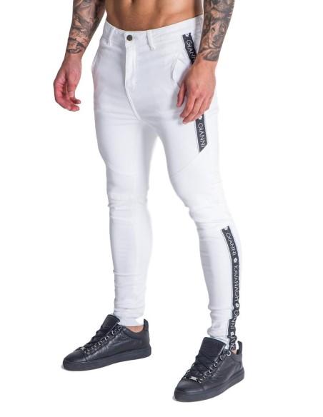 Chaqueta SikSilk Zip Racer Tape Negro, Blanco y Dorado