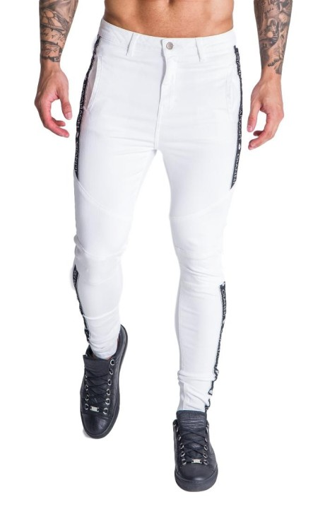 Pant SikSilk Racer Cuffed Black, White and Gold
