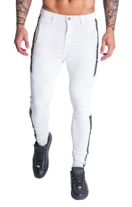 Pantalón SikSilk Racer Cuffed Negro, Blanco y Dorado