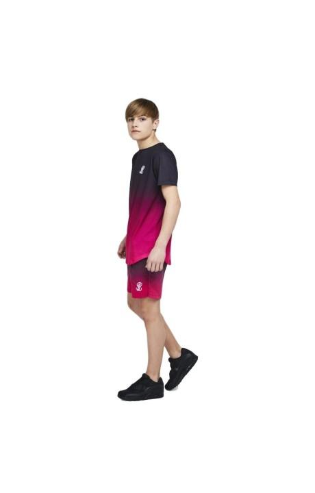 Veste de Survêtement de SikSilk Panneau, 90 Noir, Blanc et Rouge