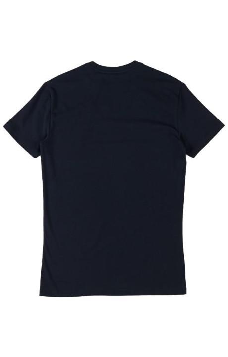 Camiseta Antony Morato Azul Noche con Logo y cuello pico