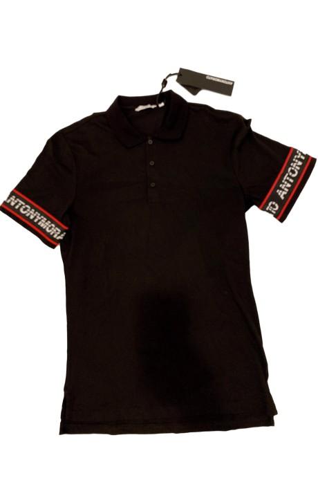 Polo Antony Morato Negro con elastico y logo