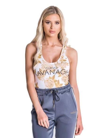 Camiseta Gianni Kavanagh Negra ,Blanco y Dorado