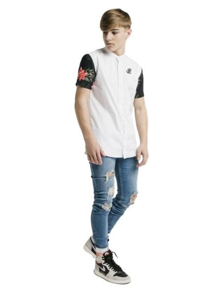 Camiseta Gianni Kavanagh De Borgoña Con Rayas Paralelas En Blanco Y Negro