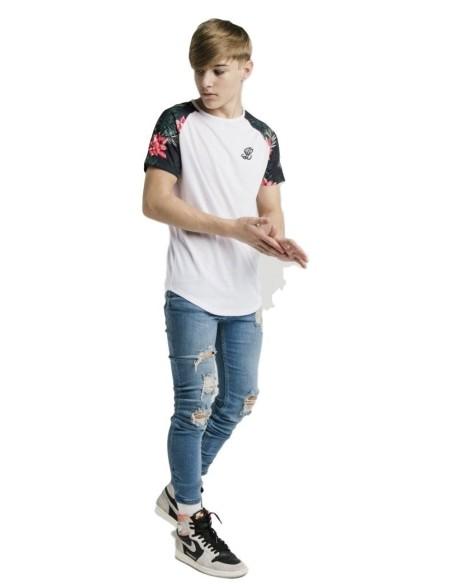 Camiseta Gianni Kavanagh Blanca En Negro Rojo Blanco