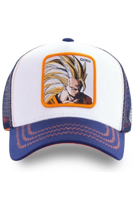 Cap Capslab Goku De Dragon Ball Sayan 2 Navy Orange