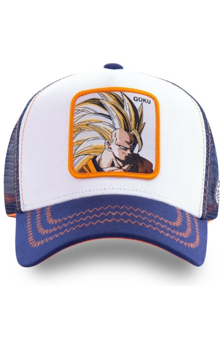 Cap Capslab Goku Dragon Ball Sayan 2 Navy Orange
