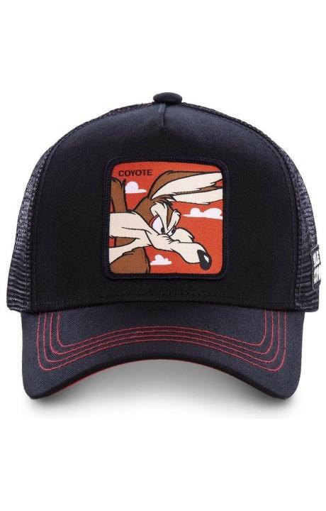 Gorra Capslab Coyote Looney Tunes Negro/Rojo
