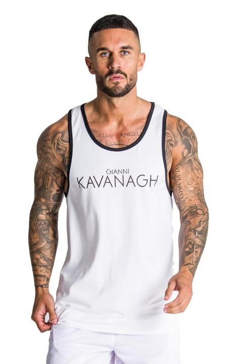 Camiseta de Tirantes Gianni Kavanagh Blanca de deporte GK