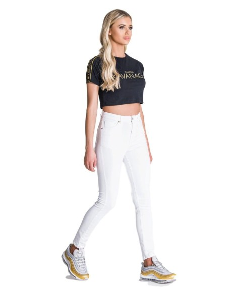 Leggings SikSilk Rose Panel Negro
