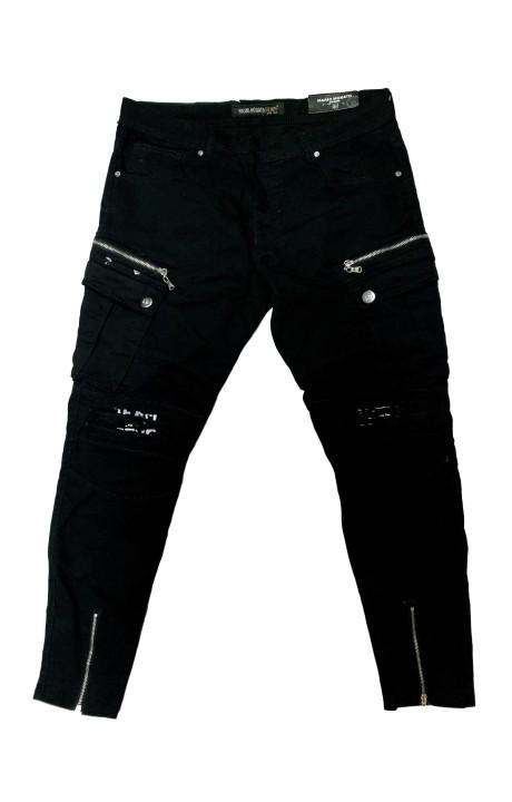 Jeans Mario Morato Denim Black with Broken Knees