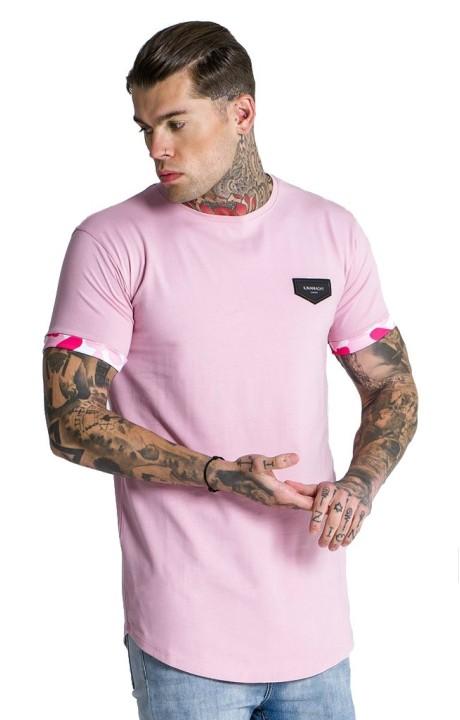 T-Shirt Gianni Kavanagh Lumière Rose Camu Manches