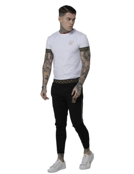 Pantalón de Chandal Roone Roman Blanco con cinta RR