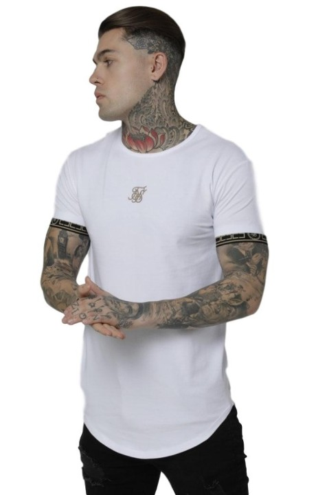 Camiseta SikSilk Scope Cartel Gym Blanco