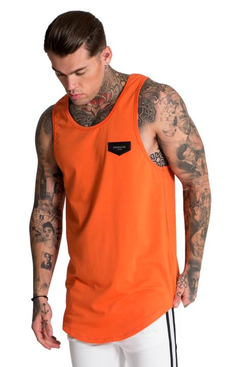 T-Shirt Gianni Kavanagh Collection De Gilet Orange De Base.