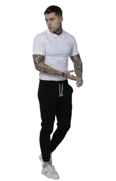 Camiseta SikSilk Técnica Contraste Gris Roca