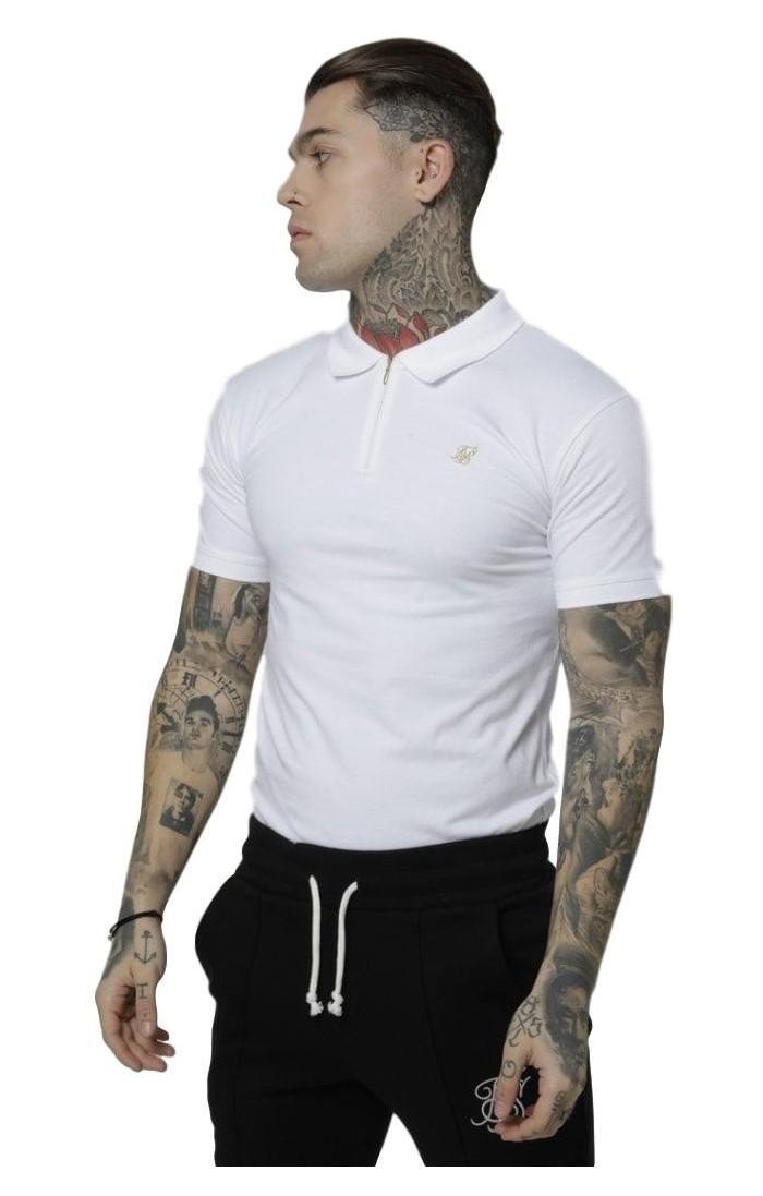 Polo SikSilk Strech Fit Tee Blanco