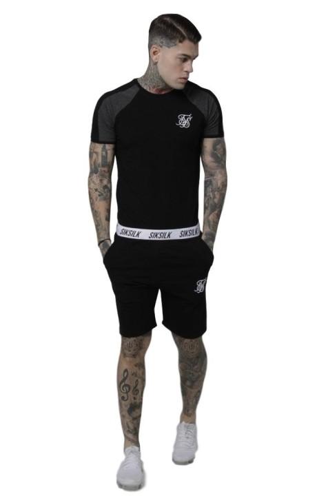 Camiseta SikSilk Athena RacerBack Bralette Negro