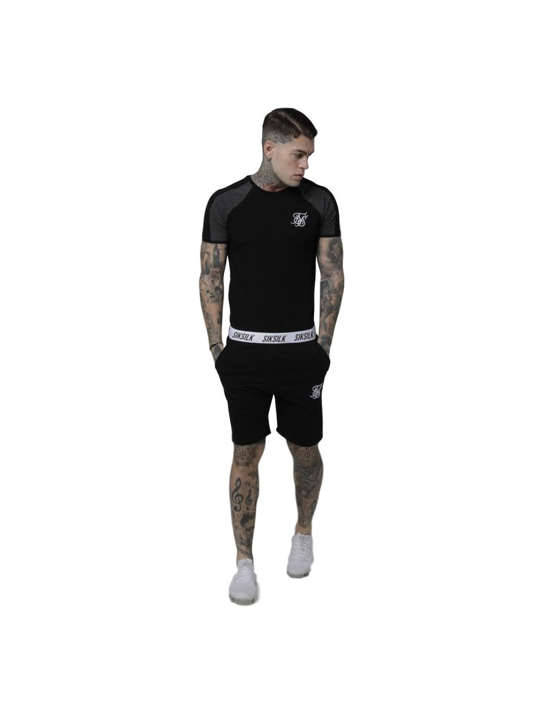 Shirt By SikSilk Athena RacerBack Bralette Black