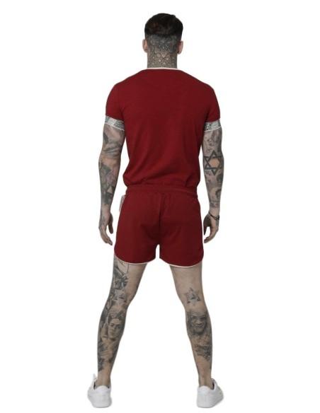 Sweatshirt SikSilk hoodie 90s Red