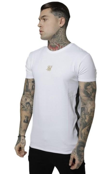 Camiseta SikSilk Side Tape Tee Blanco/Oro