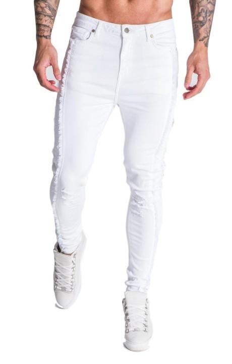 Jeans Gianni Kavanagh blanco desgastado